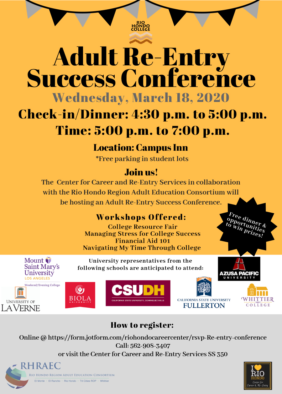 Adult Re-Entry Success Conference