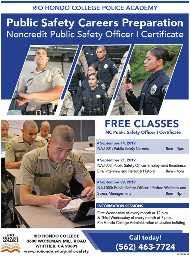 Noncredit Public Safety officer I Certificate